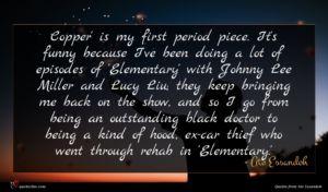 Ato Essandoh quote : Copper' is my first ...
