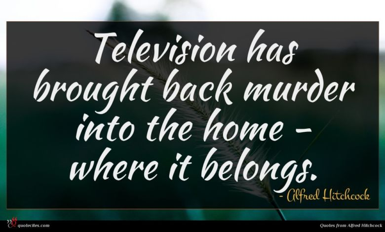 Photo of Alfred Hitchcock quote : Television has brought back …