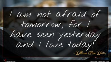 Photo of William Allen White quote : I am not afraid …