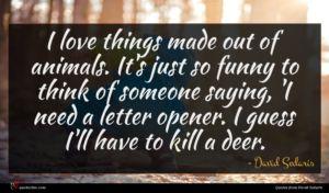 David Sedaris quote : I love things made ...