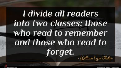 Photo of William Lyon Phelps quote : I divide all readers …