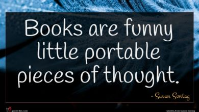 Photo of Susan Sontag quote : Books are funny little …