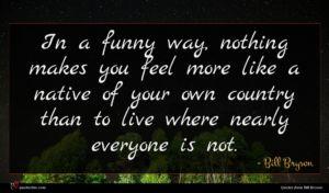 Bill Bryson quote : In a funny way ...