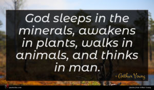 Arthur Young quote : God sleeps in the ...