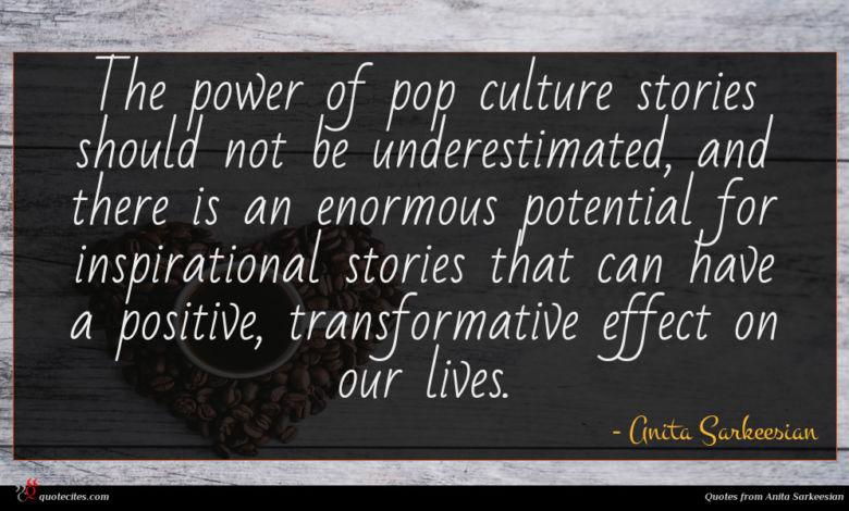 Photo of Anita Sarkeesian quote : The power of pop …