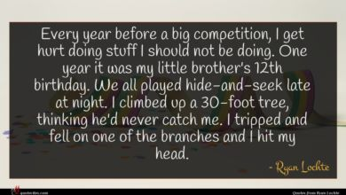 Photo of Ryan Lochte quote : Every year before a …