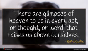 Robert Quillen quote : There are glimpses of ...