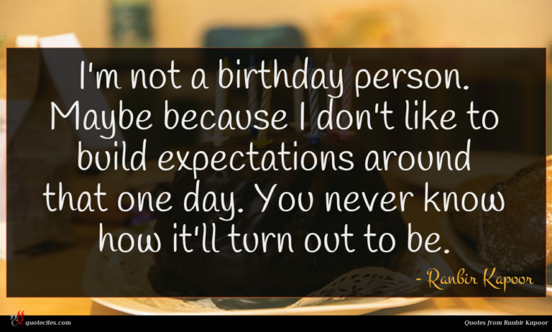 I'm not a birthday person. Maybe because I don't like to build expectations around that one day. You never know how it'll turn out to be.