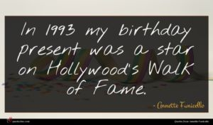 Annette Funicello quote : In my birthday present ...