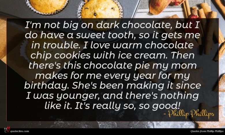 Photo of Phillip Phillips quote : I'm not big on …