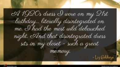 Photo of Liz Goldwyn quote : A s dress I …