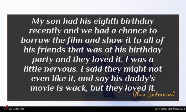 My son had his eighth birthday recently and we had a chance to borrow the film and show it to all of his friends that was at his birthday party and they loved it. I was a little nervous. I said they might not even like it, and say his daddy's movie is wack, but they loved it.