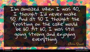 Gloria Stuart quote : I'm amazed When I ...