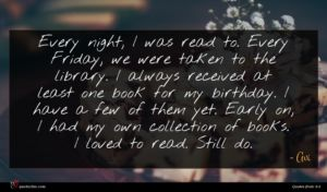 Avi quote : Every night I was ...