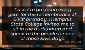 Otis Blackwell quote : I used to go ...