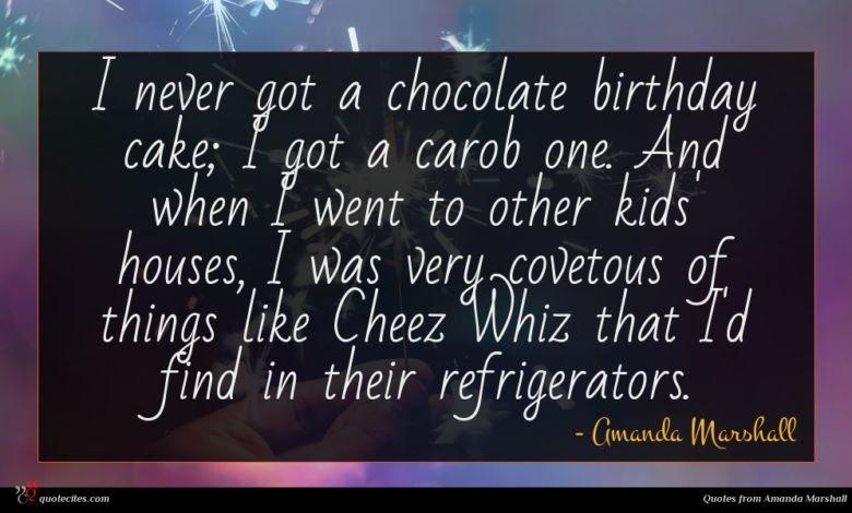 Photo of Amanda Marshall quote : I never got a …