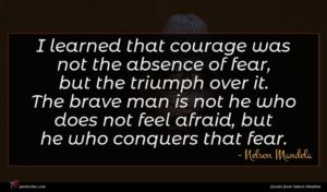 Nelson Mandela quote : I learned that courage ...
