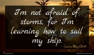 Louisa May Alcott quote : I'm not afraid of ...