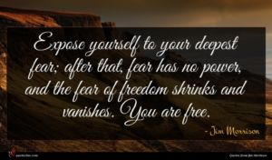 Jim Morrison quote : Expose yourself to your ...