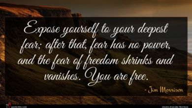 Photo of Jim Morrison quote : Expose yourself to your …