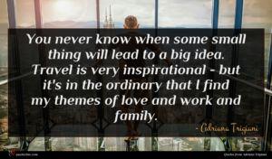 Adriana Trigiani quote : You never know when ...