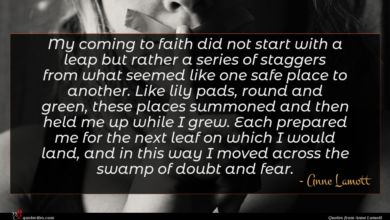 Photo of Anne Lamott quote : My coming to faith …