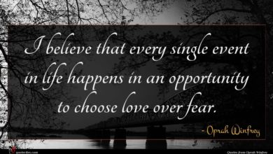 Photo of Oprah Winfrey quote : I believe that every …