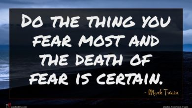 Photo of Mark Twain quote : Do the thing you …