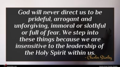 Photo of Charles Stanley quote : God will never direct …
