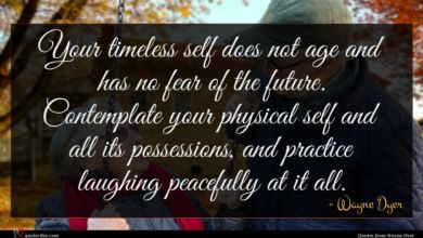 Photo of Wayne Dyer quote : Your timeless self does …