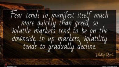 Photo of Philip Roth quote : Fear tends to manifest …