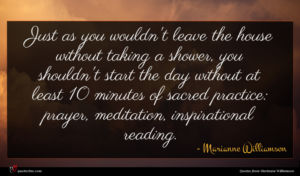 Marianne Williamson quote : Just as you wouldn't ...