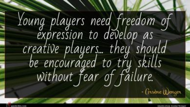 Photo of Arsène Wenger quote : Young players need freedom …