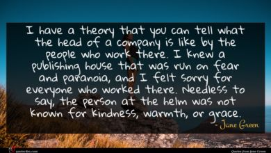 Photo of Jane Green quote : I have a theory …