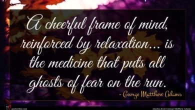 Photo of George Matthew Adams quote : A cheerful frame of …