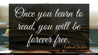 Photo of Frederick Douglass quote : Once you learn to …