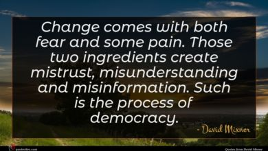 Photo of David Mixner quote : Change comes with both …