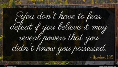 Photo of Napoleon Hill quote : You don't have to …