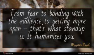 Maysoon Zayid quote : From fear to bonding ...