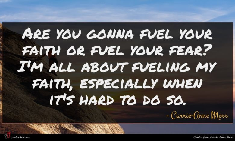 Are you gonna fuel your faith or fuel your fear? I'm all about fueling my faith, especially when it's hard to do so.