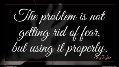 Photo of Zig Ziglar quote : The problem is not …