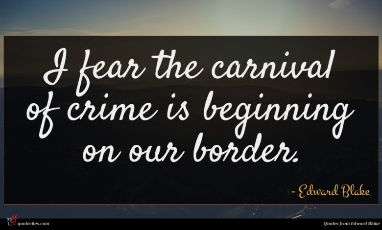 I fear the carnival of crime is beginning on our border.