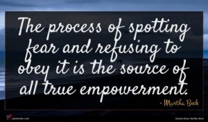 Martha Beck quote : The process of spotting ...