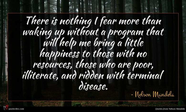 Photo of Nelson Mandela quote : There is nothing I …
