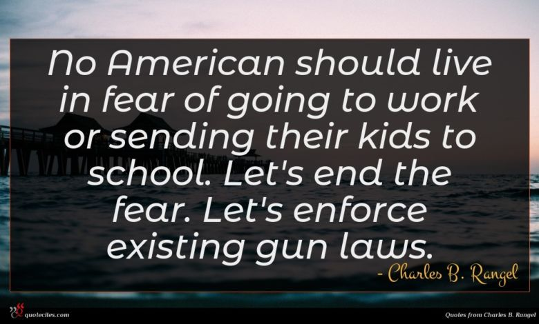 No American should live in fear of going to work or sending their kids to school. Let's end the fear. Let's enforce existing gun laws.