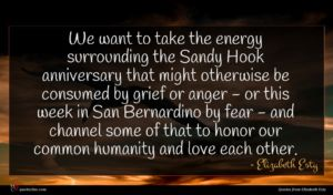 Elizabeth Esty quote : We want to take ...