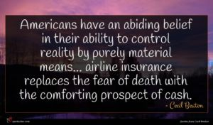 Cecil Beaton quote : Americans have an abiding ...
