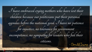 Photo of Donald Trump quote : I have embraced crying …