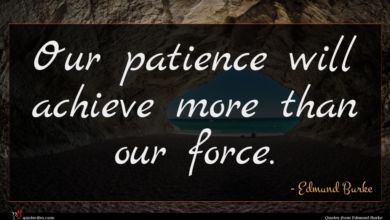 Photo of Edmund Burke quote : Our patience will achieve …