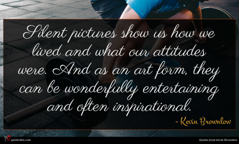 Silent pictures show us how we lived and what our attitudes were. And as an art form, they can be wonderfully entertaining and often inspirational.